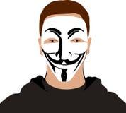 Máscara anónima Imagen de archivo libre de regalías