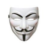 Máscara anónima (máscara de Fawkes del individuo) Fotografía de archivo