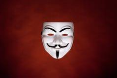 Máscara anónima (máscara de Fawkes do indivíduo) Foto de Stock Royalty Free