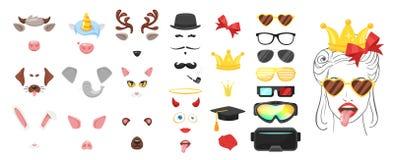 Máscara animal da cara ou do carnaval ilustração do vetor