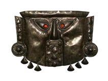 Máscara antiga do inka com trajeto Foto de Stock Royalty Free