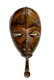 Máscara congolesa africana con el tubo Imágenes de archivo libres de regalías