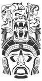 Máscara antigua de la ceremonia - maya - Azteca