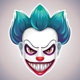 Máscara assustador do palhaço ilustração royalty free