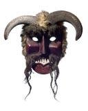 Máscara auténtica del buso de Mohacs aislada en blanco Foto de archivo