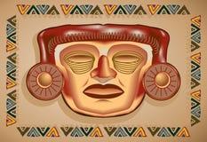 Máscara azteca Imágenes de archivo libres de regalías