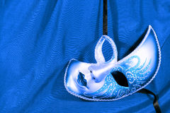 Máscara azul do carnaval Imagem de Stock Royalty Free
