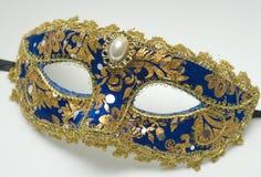 Máscara azul do carnaval Fotos de Stock Royalty Free