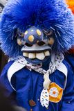 Máscara azul dos waggis do carnaval 2019 de Basileia única foto de stock royalty free