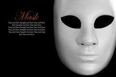 Máscara blanca fotografía de archivo libre de regalías