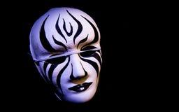 Máscara blanco y negro Foto de archivo libre de regalías
