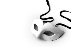 Máscara branca Fotografia de Stock Royalty Free