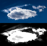 Máscara branca do entalhe da nuvem Imagens de Stock Royalty Free