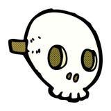 máscara cômica do crânio dos desenhos animados ilustração stock