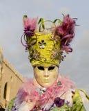 Máscara canival veneciana Foto de archivo