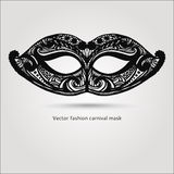 Máscara carnaval da forma bonita Vetor desenhado mão Fotos de Stock Royalty Free