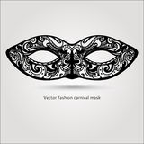 Máscara carnaval de la moda hermosa Vector drenado mano Imagenes de archivo