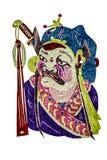 Máscara chinesa da ópera da tradição Fotos de Stock Royalty Free