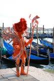 Máscara clasical hermosa en Venecia fotografía de archivo libre de regalías