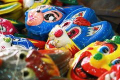 Máscara colorida de la historieta para los niños Foto de archivo