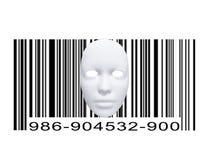 Máscara con código de barras Foto de archivo libre de regalías