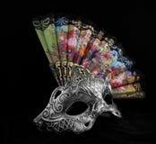 Máscara con la fan Imagenes de archivo