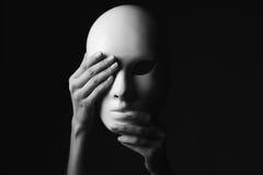 Máscara Concepto de Víspera de Todos los Santos Foto monocromática imagen de archivo libre de regalías