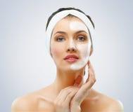 Máscara cosmética imagens de stock
