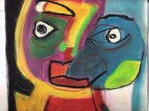 Máscara cubista. foto de archivo libre de regalías