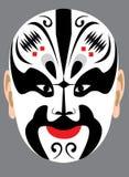 Máscara da ópera de Peking do chinês ilustração do vetor