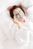 Máscara da argila Foto de Stock Royalty Free