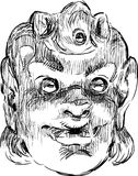 Máscara da comédia Imagem de Stock