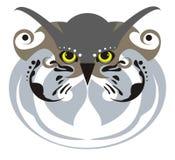 Máscara da coruja Fotografia de Stock