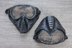 Máscara da malha do metal de arma do BB de Airsoft, proteção da segurança da cara fotos de stock