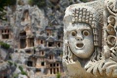 Máscara da pedra de Myra Fotografia de Stock
