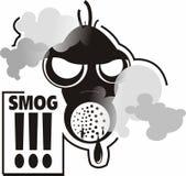 Máscara da poluição atmosférica Fotografia de Stock Royalty Free