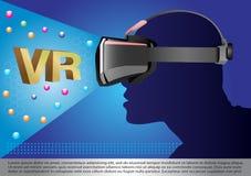 Máscara da realidade virtual Foto de Stock
