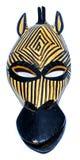 Máscara da zebra imagem de stock