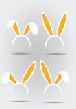Máscara das orelhas do ` s do coelho ilustração stock