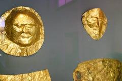 Máscara de Agamemnon Foto de archivo