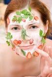 máscara de beleza Fotografia de Stock