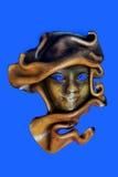 Máscara de cuero imagenes de archivo