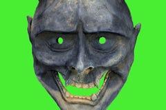 A máscara de Davil japão no verde sgreen, kabuki executa imagens de stock royalty free