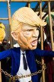 Máscara de Donald Trump en el carnaval del viareggio imágenes de archivo libres de regalías