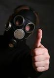Máscara de gás fotografia de stock