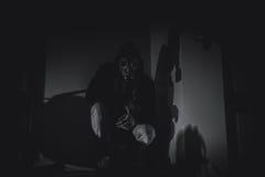 Máscara de gás assustador fotografia de stock royalty free