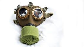 máscara de gás civil do Hungarian M76 dos anos 70 com filtro do NBC Imagem de Stock Royalty Free
