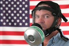 Máscara de gás horizontal Fotografia de Stock Royalty Free