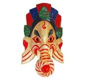 Máscara de Ganesha en un fondo blanco hinduism Foto de archivo