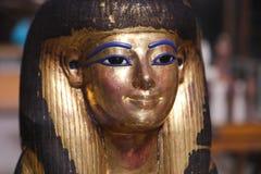 Máscara de Goldy en el museo egipcio imagen de archivo libre de regalías